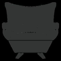 Sofá sillón plano icono