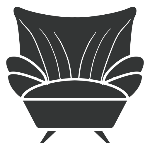 Sofá sillón plano icono Transparent PNG