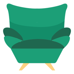 Sofa armchair icon