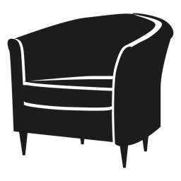 Icono plana de silla de bañera