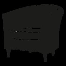 Wanne Stuhl flach Symbol