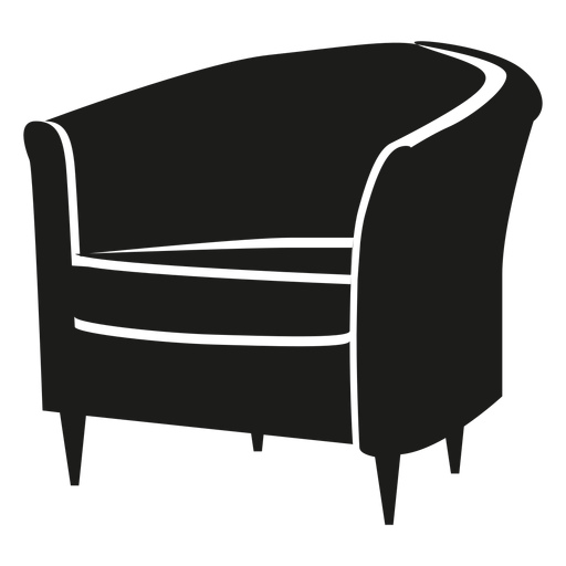 Tub chair flat icon Transparent PNG
