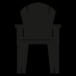 Icono plano de la silla vertical adirondack