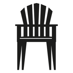 Upright adirondack chair flat icon