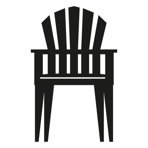 Upright Adirondack Chair Flat Icon Transparent PNG