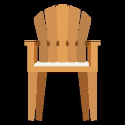 Icono de silla adirondack vertical