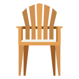 Upright adirondack chair icon