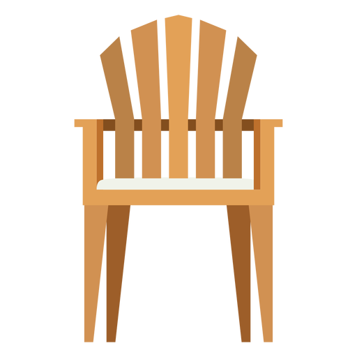 Upright Adirondack Chair Icon Transparent PNG