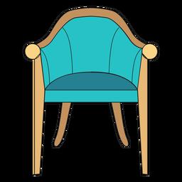 Vintage chair cartoon