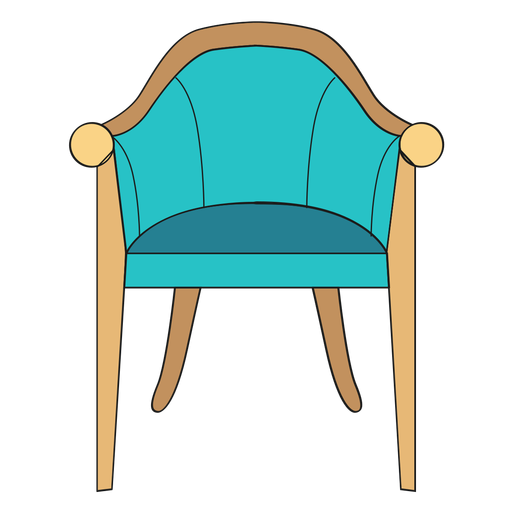 Vintage chair cartoon - Transparent PNG & SVG vector file