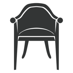 Icono plano de la silla vintage