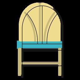 Icono de la silla trasera de trigo