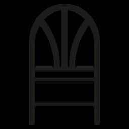 Ícone de traçado de cadeira traseira de trigo