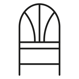 Wheat back chair stroke icon
