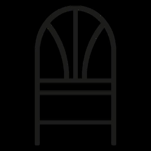 Ícone de traçado de cadeira traseira de trigo Transparent PNG