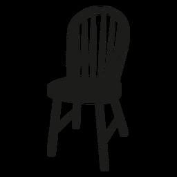Windsor Stuhl flache Ikone