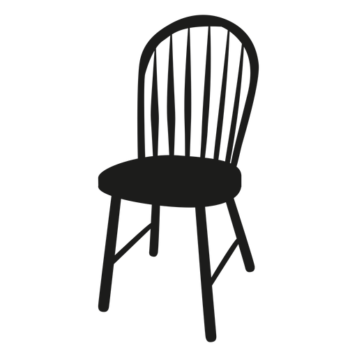 Windsor chair flat icon Transparent PNG