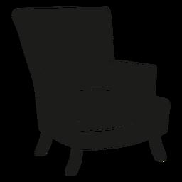 Ícone plana de cadeira de asa