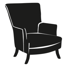 Wingback chair flat icon