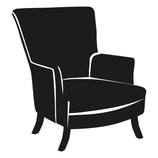 Wingback chair flat icon Transparent PNG