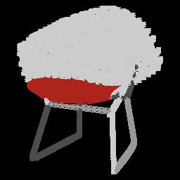 Icono de silla de alambre