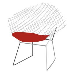 Wire chair icon