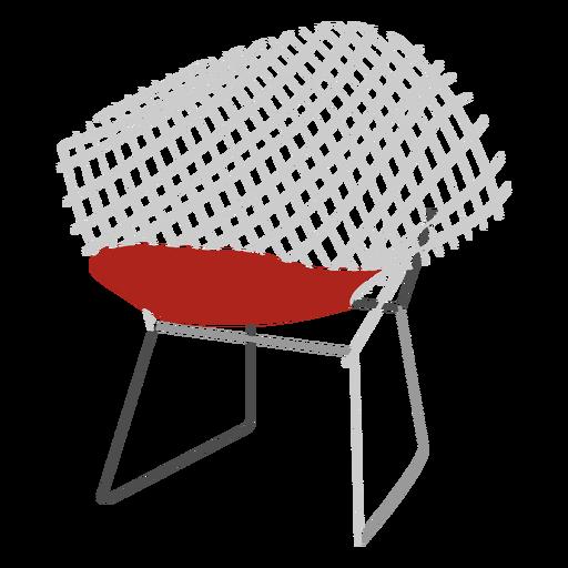 Icono de silla de alambre Transparent PNG