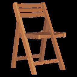 Desenhos animados de cadeira dobrável de madeira