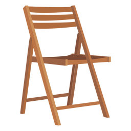 Wooden folding chair cartoon