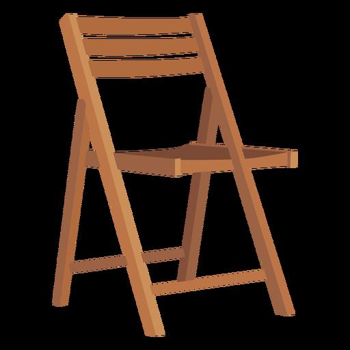 Wooden folding chair cartoon Transparent PNG