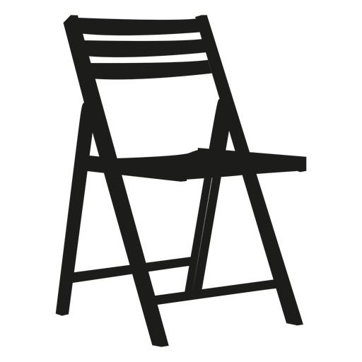 Merveilleux Wooden Folding Chair Flat Icon Transparent PNG