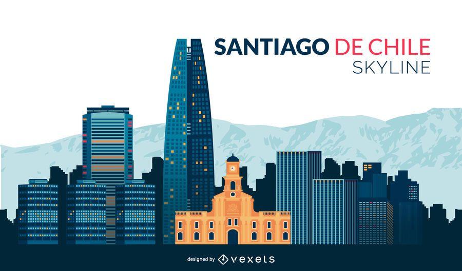 Horizonte plano de Santiago do Chile