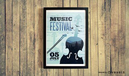 Festival de música clásica cartel diseño