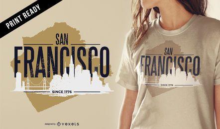 Diseño de camiseta resistente de San Francisco