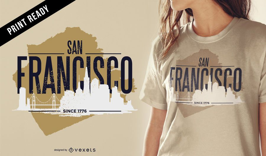 San Francisco rugged t-shirt design