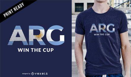 Projeto do t-shirt de Argentina do copo de Rússia