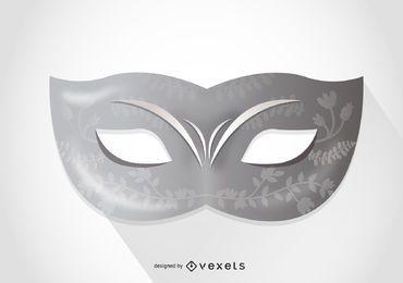 Máscara de carnaval minimalista de venecia