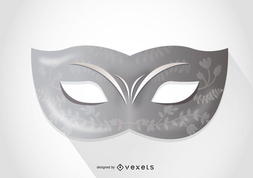 Minimalista máscara de carnaval de Veneza