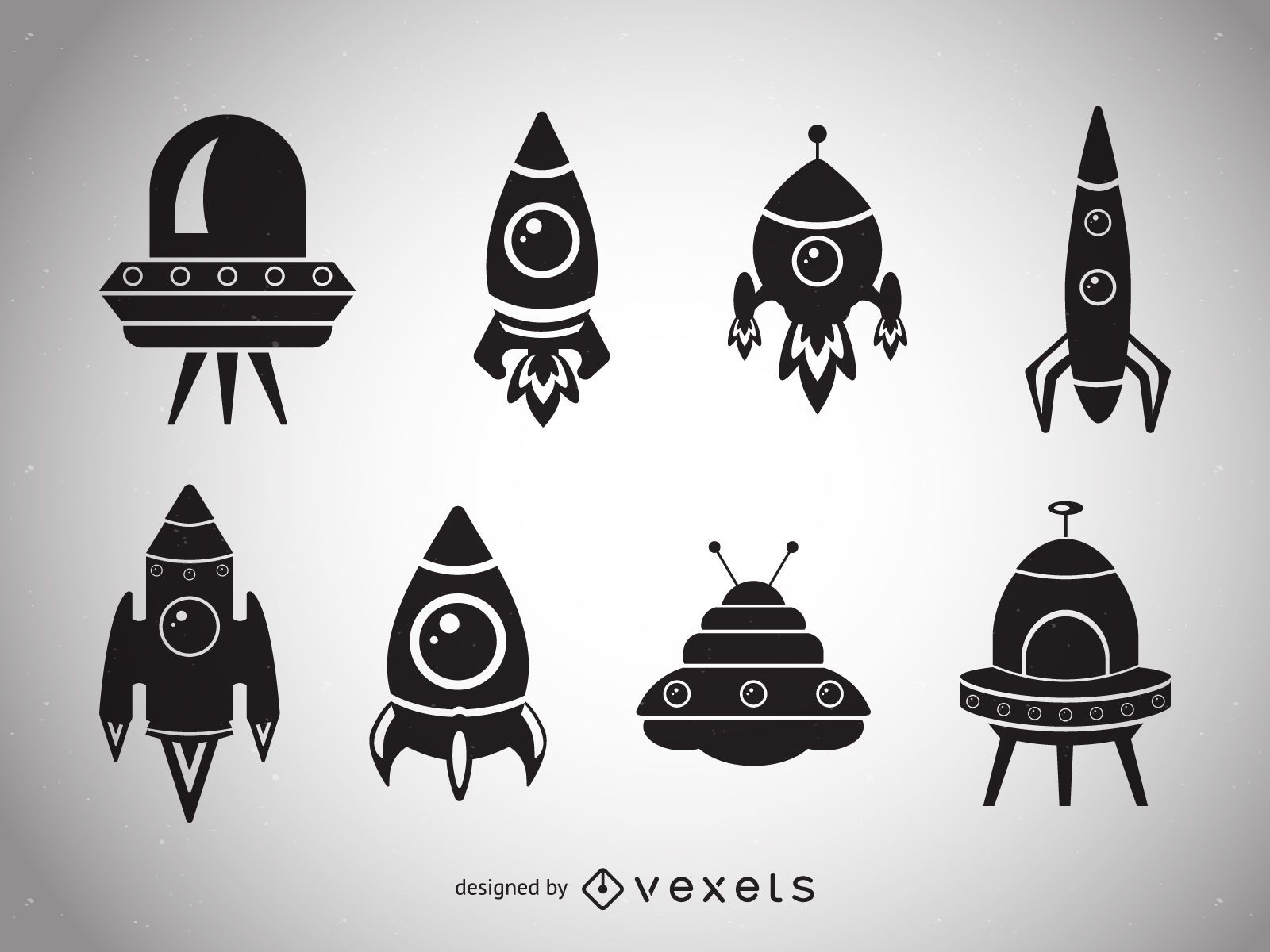 Spaceship silhouettes collection