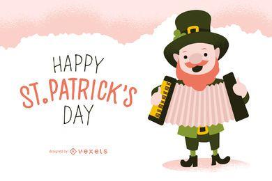 Diseño de cartel de Flat St. Patrick