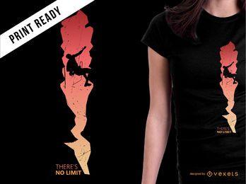 Diseño de camiseta de silueta de montaña