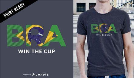 Rússia 2018 Projeto do t-shirt do Brasil