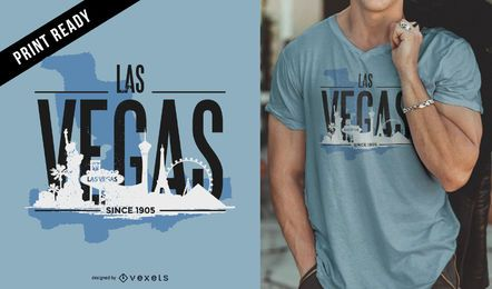 Design de t-shirt do horizonte de Las Vegas