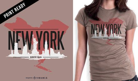 New York design de t-shirt robusto