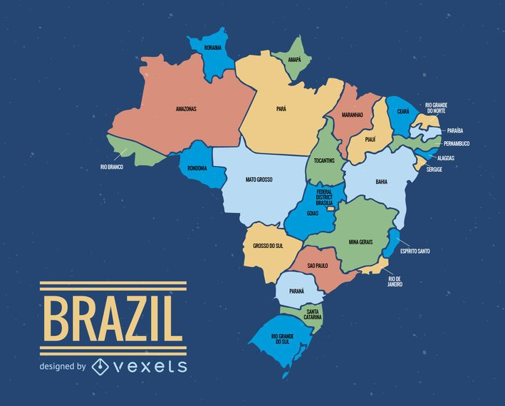 Brazil map illustration Vector download