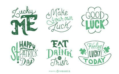 St Patrick's set of badges