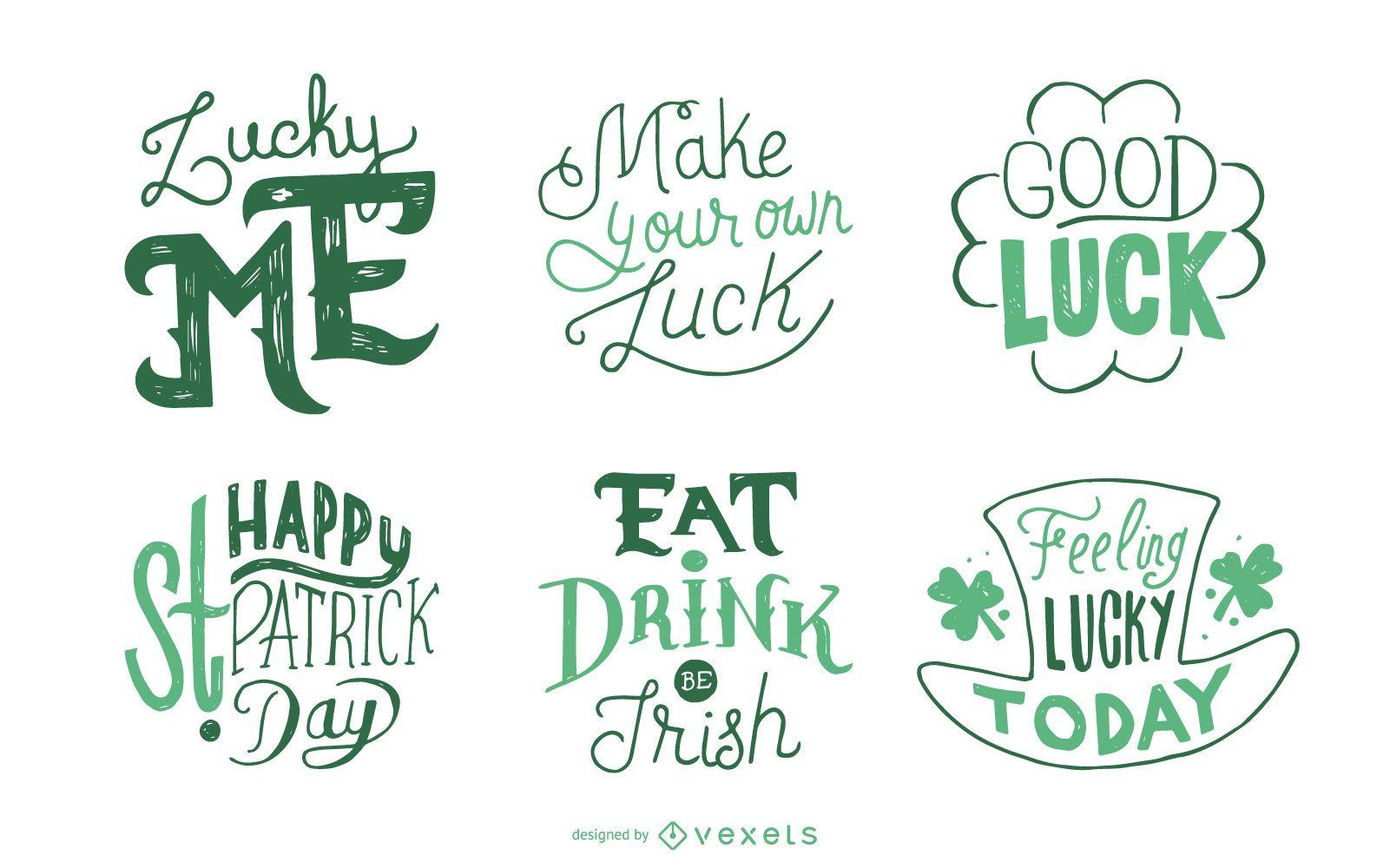 St Patrick's set of badges