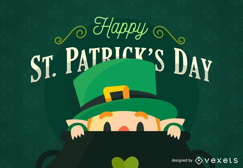 Cartaz do dia de St Patrick liso