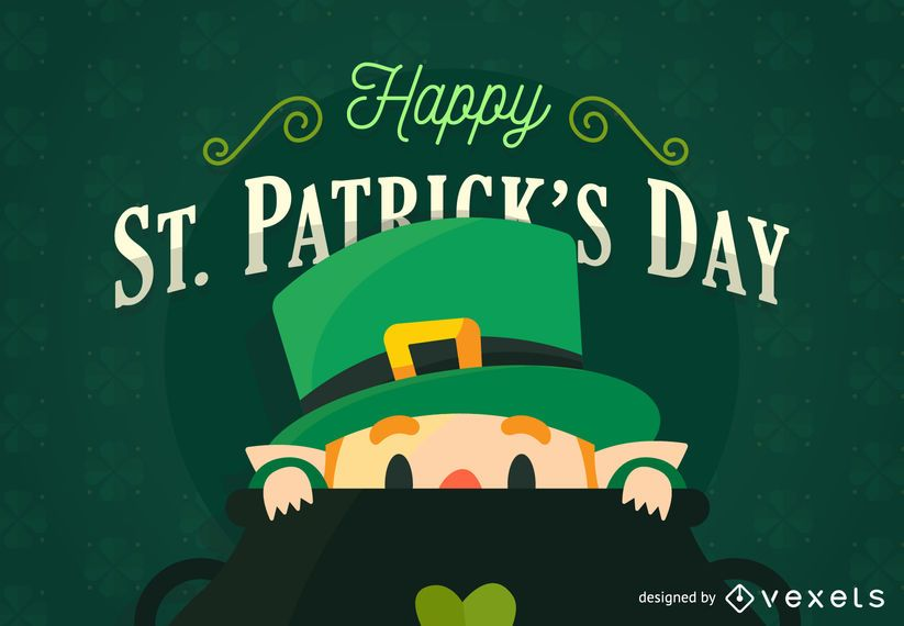 Flat St Patrick's Day poster
