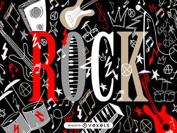 Illustriertes Felsenplakat